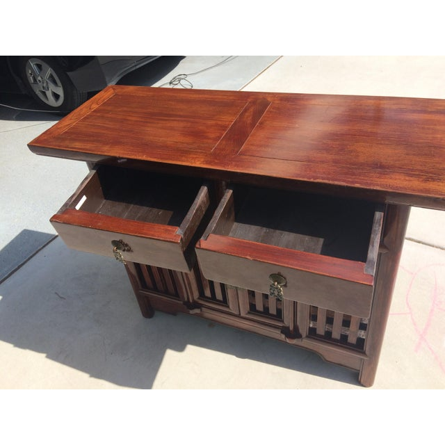 Asian Solid Wood Cabinet - Image 6 of 9