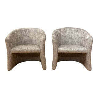 1960s Mid-Century Modern Barrel Chairs - a Pair For Sale