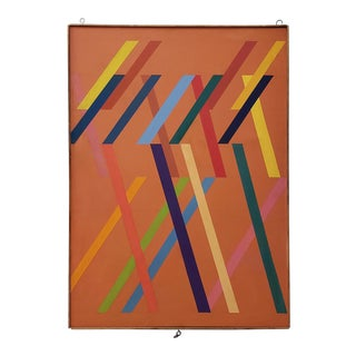 Tom Patrick (American, 20th C.) Vintage Geometric Abstract on Canvas C.1970s For Sale