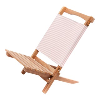 2 Piece Outdoor Chair - Lauren's Pink Stripe For Sale