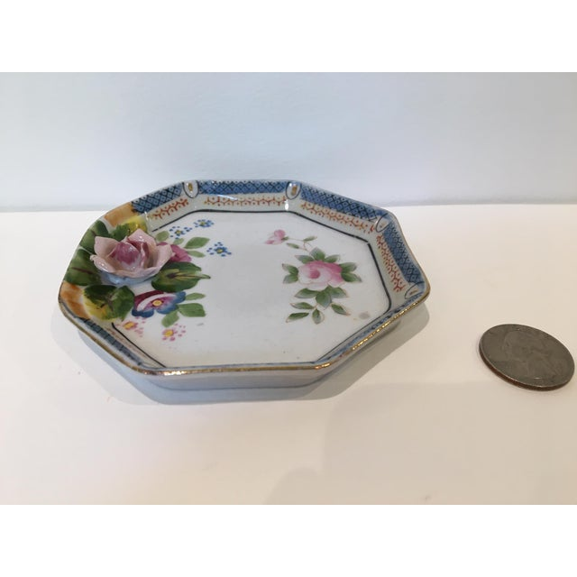 Shabby Chic Octagonal China Vide-Poche/Coin Dish For Sale - Image 3 of 7