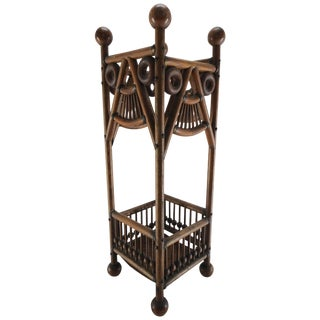 Arts & Crafts Stick and Ball Umbrella Stand For Sale