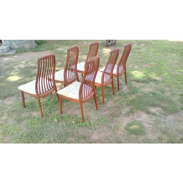 Very nice set of Dyrlund Teak dining chairs - made in Denmark. Very good original condition. A few minor repairs in past....