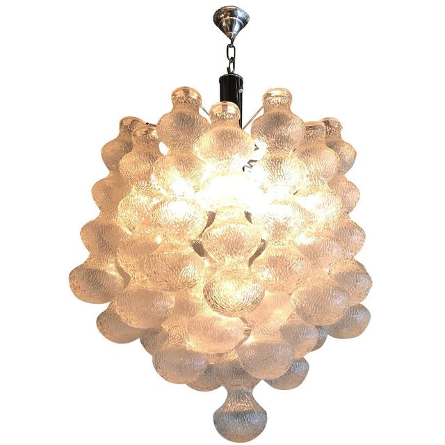 Mid 20th Century 20th Century Murano Mazzega Chandelier For Sale - Image 5 of 5