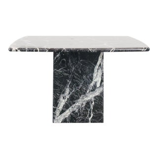 20th Century Modern Black Marble Side Table For Sale