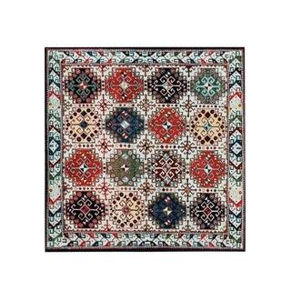 Abode Afghan Rug - 5′10″ × 5′10″ For Sale
