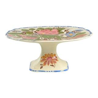 Myott Staffordshire Peasantry Pedestal Cake Plate For Sale