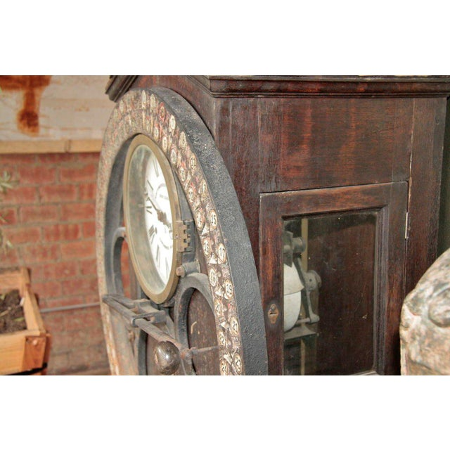 Wood German Punching Clock 1920s For Sale - Image 7 of 10