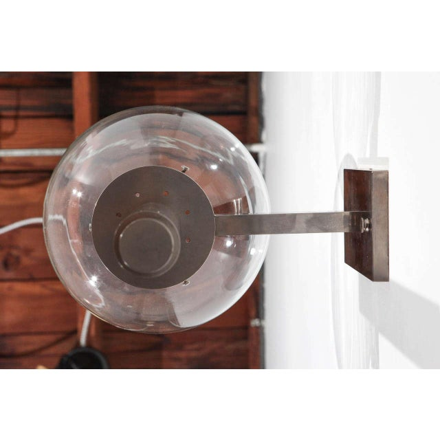 Metal 1960s Wall Sconce in the Style of Arredoluce For Sale - Image 7 of 8