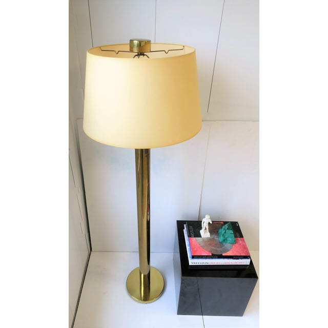 Late 20th Century Modern Brass Floor Lamp by Koch and Lowey For Sale - Image 5 of 13