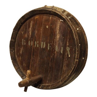 Antique French Wine Barrel Frontage, Bordeaux