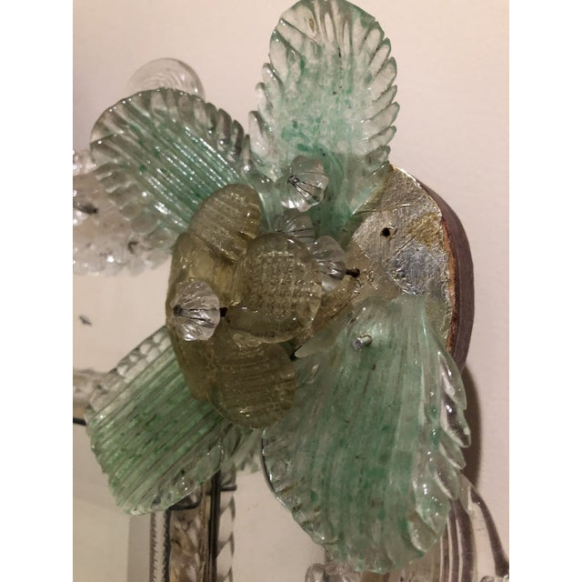 1940s Italian Murano Etched Mirror For Sale - Image 5 of 6