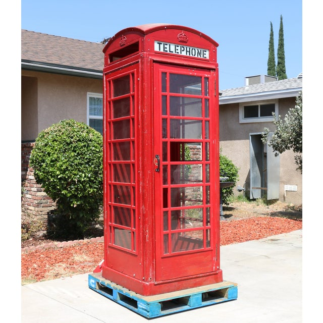 Metal Vintage London Lifesize Telephone Booth For Sale - Image 13 of 13