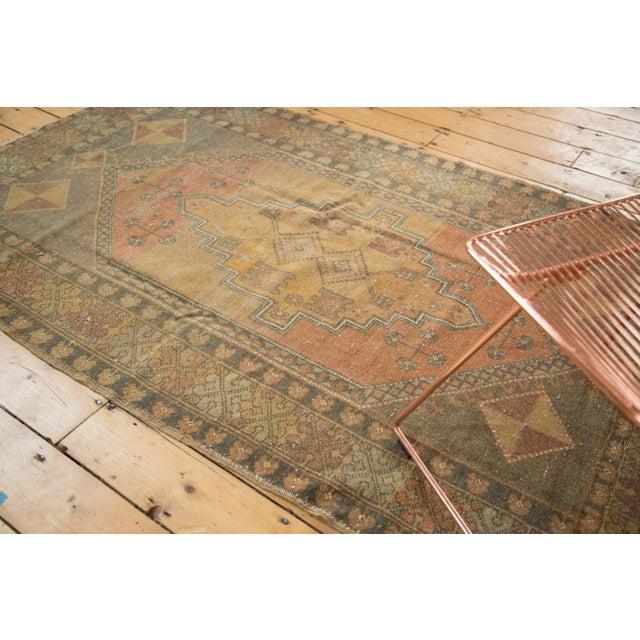 "Vintage Distressed Oushak Rug - 4'1"" x 6'7"" - Image 7 of 11"
