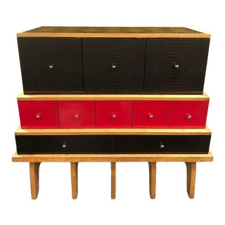 Vintage Minotti for Alexandre Ferucci 3 Tiered Chest For Sale