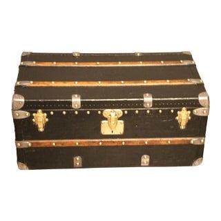 1910s Black Louis Vuitton Trunk For Sale