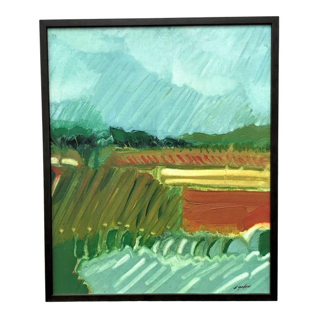1970s Expressionist Landscape by Norman F. Goodwin For Sale