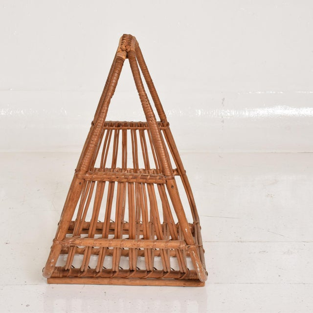 Franco Albini Franco Albini Italian Mid-Century Modern Magazine Rack Holder Basket For Sale - Image 4 of 11