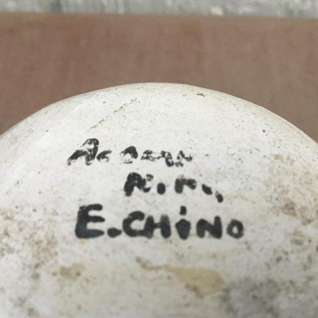 Traditional 20th Century Native American Emmalita Chino Monochromatic Acoma Seed Pot For Sale - Image 3 of 6