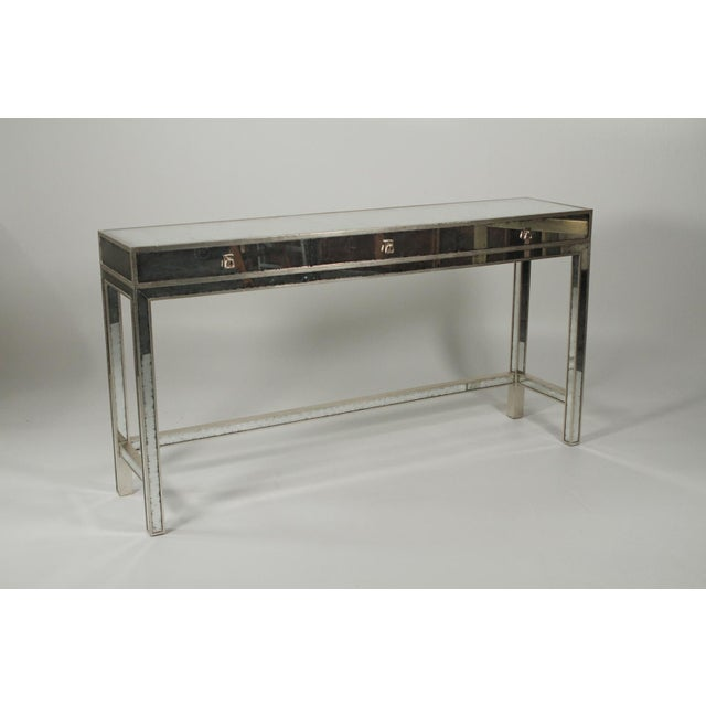 20th Century Art Deco John Richard Mirrored Modern Console Table For Sale - Image 10 of 10