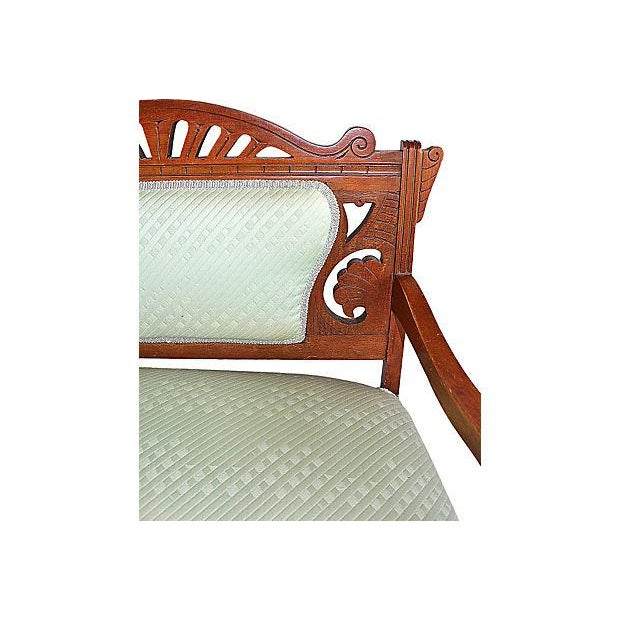 Antique Eastlake Style Settee - Image 5 of 6