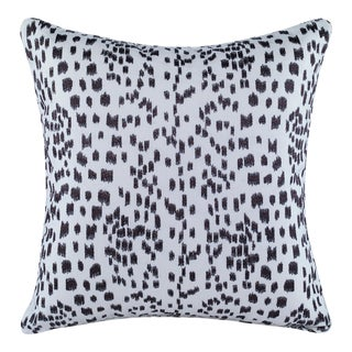 Curated Kravet Les Touches Embroidered Pillow - Espresso For Sale