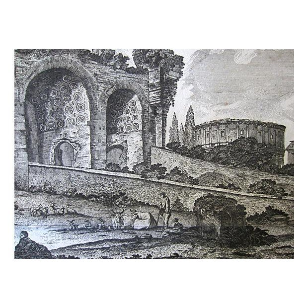 Greek Ruins Antique Etching C.1759 - Image 2 of 3