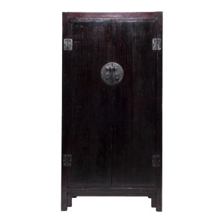 19th Century Chinese Tall Square Corner Cabinet For Sale