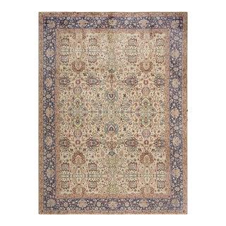 """Vintage Persian Tabriz Rug 6'2"""" X 11'4"""" For Sale"""