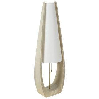 Wishbone Table Lamp in Gray Ceruse Oak For Sale