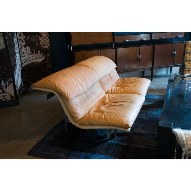 Giovanni Offredi 'Wave' Leather Sofa by Saporiti, Italy For Sale In Austin - Image 6 of 8