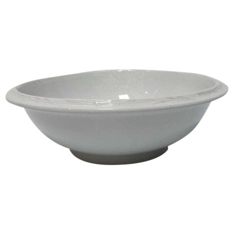 Early Large English Ironstone Serving Bowl For Sale