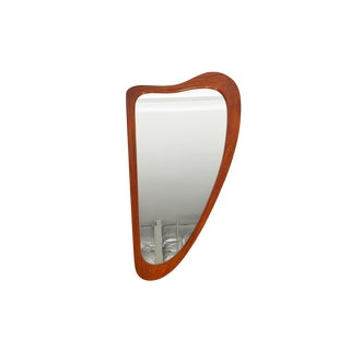 Danish Modern Teak Harp Mirror For Sale