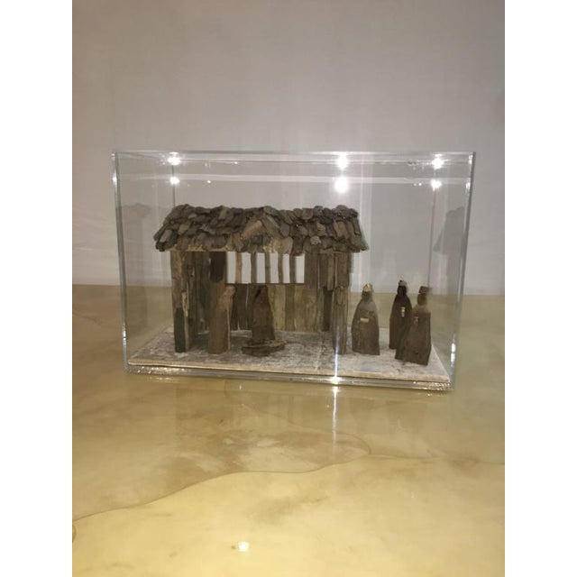 Customizable Nativity Scene in Driftwood and Lucite Object D'Art by AMK for Patricia Kagan - Image 4 of 7