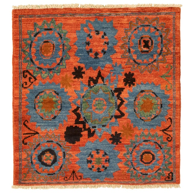 Boho Chic Hand-Knotted Rug For Sale - Image 9 of 9