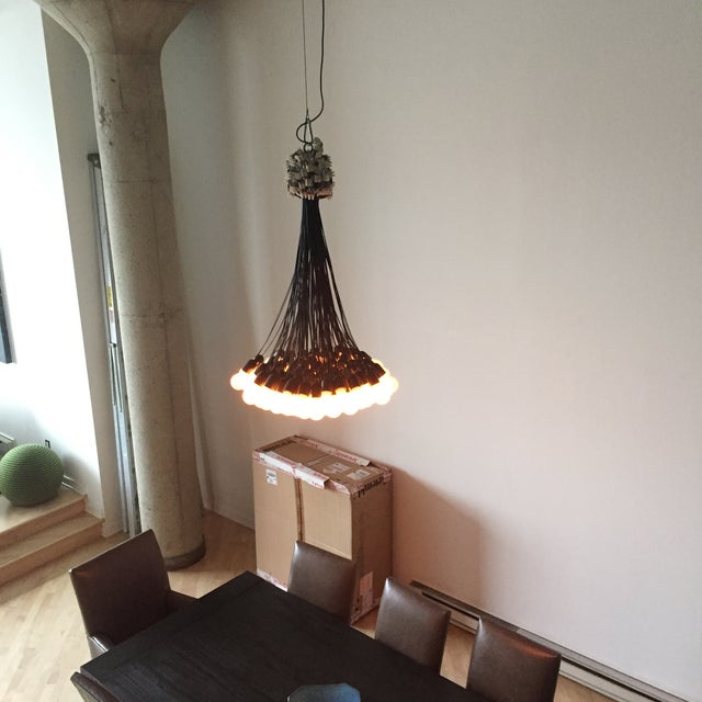 85 lamps chandelier by dutch designer droog chairish 85 lamps chandelier by dutch designer droog image 3 of 3 aloadofball Choice Image