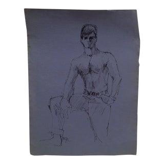 "Korogen ""Shirtless Dandy"" Original Drawing on Paper For Sale"