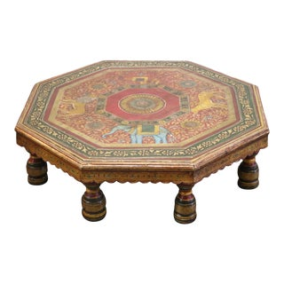 Indian Wooden Bajot Table For Sale