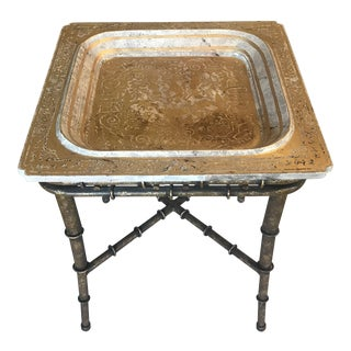 Chinoisserie Style Tray Table For Sale