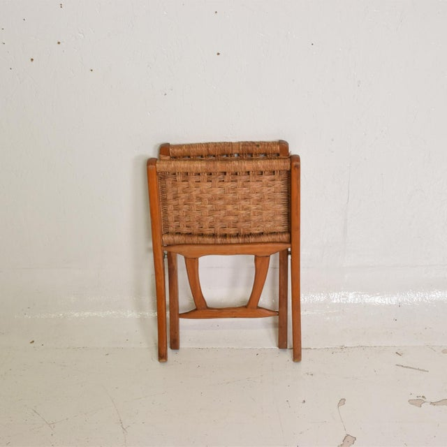 Clara Porset Mexican Modernist Small Folding Chair After Clara Porset For Sale - Image 4 of 8