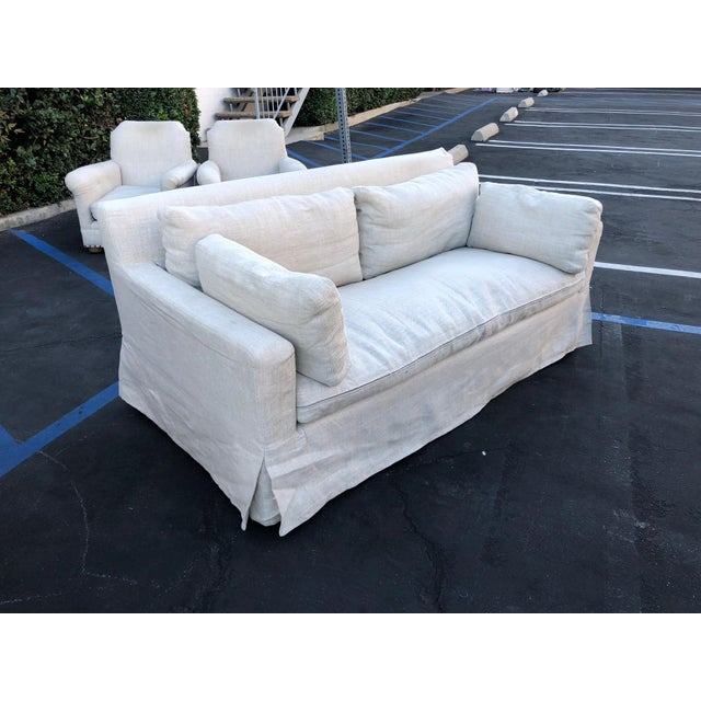 "From Restoration Hardware: ""Our European-inspired take on this classic sofa redefines it for a new age. Low to the ground,..."