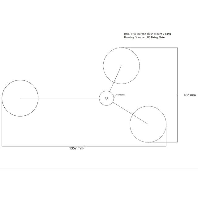Metal Trio Flush Mount by Fabio Ltd For Sale - Image 7 of 10