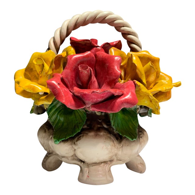 Vintage Italian Bassano Capodimonte Porcelain Basket Of Roses Chairish,Data Entry Jobs Online From Home Without Investment