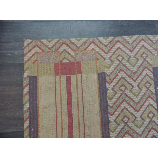Arts & Crafts Frank Lloyd Wright Arts & Crafts Inspired Rug - 8′6″ × 11′2″ For Sale - Image 3 of 8