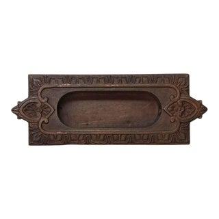 Victorian Cast Bronze Recessed Window Sash Lift For Sale