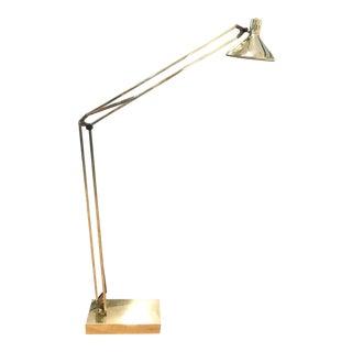 Mid Century Brass Italian Style Floor Lamp