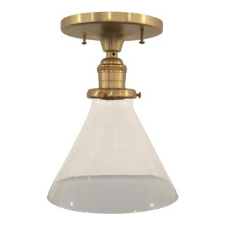 Modern Schoolhouse Electric Flush Mount For Sale