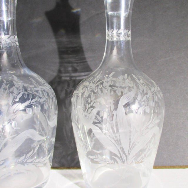 Antique Cut Glass Liqueur Decanters - Set of 3 For Sale In New York - Image 6 of 8