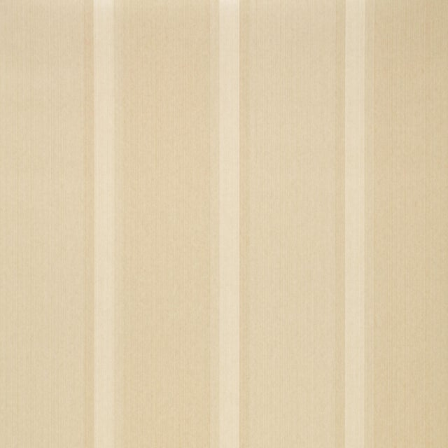 Sample - Schumacher X Simply Charming Lucera Stripe Wallpaper in Ivory For Sale