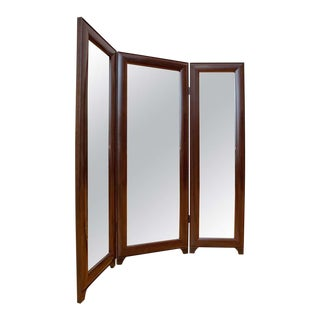 Full Length Dressing Mirror in Macassar Ebony For Sale